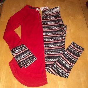 Thermal & Legging Pajama Set Junior Size XS NWT